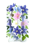 Dazzling Floral Design Pop Up Greeting Card