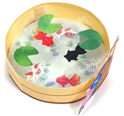 Goldfish Garden Pond Pop Up 3D Greeting Card