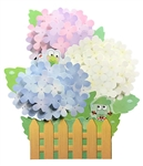 Luxuriant Hydrangea w/ Cute Frogs Pop Up Decorative Greeting Card