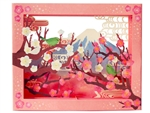 Laser Cut Plum Ume Blossom Pop Up Decorative Greeting Card