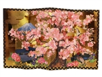 Decorative Gold Folding Cherry Blossom Tree Pop Up Greeting Card