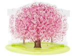Fabulous Cherry Blossom Multipurpose Pop Up Greeting Card