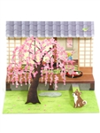 Cherry Blossom Japanese Tea Garden Pop Up Card