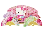 Hello Kitty Cherry Blossom Mini Fans Pop Up Card