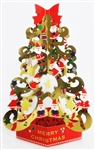 Christmas Tree w/ Glow in the Dark Stars Pop Up Greeting Card