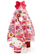 Hello Kitty Pink Christmas Tree Pop Up Greeting Card