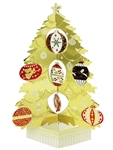 Golden Christmas Tree Pop Up Decorative Greeting Card