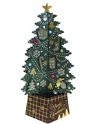 Green Jewel Christmas Tree 3D Pop Up Greeting Card