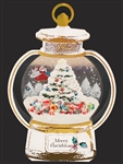 Decorative Golden Christmas Lantern Pop Up Card