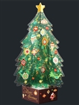 Green Crystal 3D Christmas Tree Pop Up Greeting Card