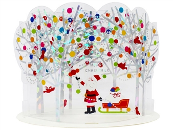 Santa Claus in Winter Forest Pop Up Christmas Card