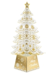 Winter White Laser Cut Christmas Tree 3D Pop Up Greeting Card