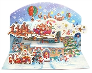 Jolly Mini Santas Christmas Lodge Pop Up Card