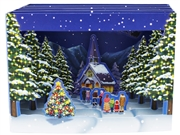 Christmas Town Gathering Pop Up Greeting Card