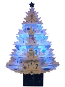 Sparkling Miniature White Christmas Tree Lights and Melody Pop Up Card