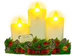 Flickering Christmas Candles Lights and Melody Pop Up Card
