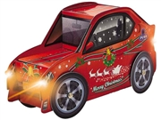 Merry Christmas Car Lights and Melody Pop Up Card