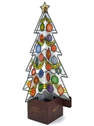 Stained Glass Christmas Tree Lights and Melody Pop Up Card