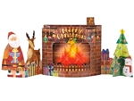 Flickering Flame Fireplace Lights and 5 Music Pop Up Christmas Card