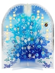 Snowing Blue Christmas Tree Lights and 20 Melodies Pop Up Decorative Card
