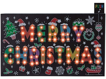 Merry Christmas Flashing Lights and Melody Pop Up Card