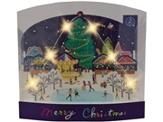 Christmas Night Festival Lights and Melody Pop Up Card