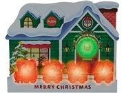 Illuminated Traditional Christmas Home Lights and Melody Pop Up Card