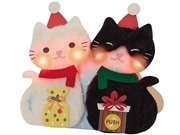Purr-Fect Kitty Cat Christmas Lights and Melody Pop Up Card