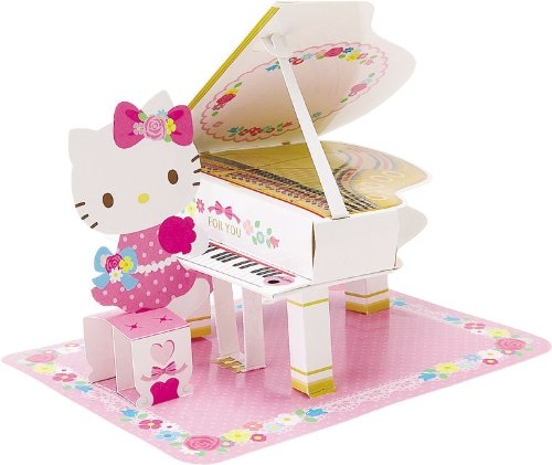 Hello kitty grand piano classical melody pop up greeting card hello kitty grand piano classical melody pop up greeting card m4hsunfo