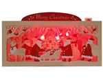Wooden Merry Christmas Gift Lights & 20 Melodies Pop Up Greeting Card
