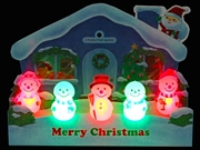 Illuminated Jolly Snowman Lights and 3 Melodies Pop Up Christmas Greeting Card