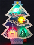 Illuminated Laser Cut Christmas Tree Lights and Melody Pop Up Greeting Card