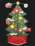 Magical Christmas Tree Medley Lights and Melody Pop Up Greeting Card