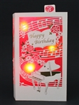 Magnificent Laser Cut Grand Piano Lights and Melody Pop Up Birthday Card