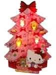 Hello Kitty Pink Christmas Tree Lights and 20 Melodies Pop Up Greeting Card