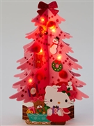 Hello Kitty Soft Felt Pink Christmas Tree Lights and Melody Pop Up Greeting Card
