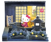 Hello Kitty w/ Night Japanese Garden Lights and Sounds Pop Up Greeting Card