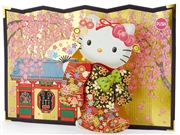 Hello Kitty Cherry Blossoms In Bloom Scene Decorative Melody Card