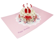 Happy Birthday Laser Cut Cake Pop Up Greeting Card