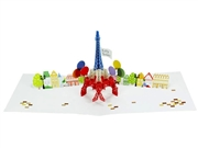 Happy Birthday Laser Cut Eiffel Tower Pop Up Greeting Card
