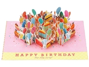 Happy Birthday Cupcake Party Pop Up Decorative Card