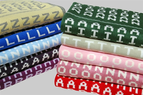personalised baby name blankets