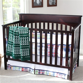 Baby Blanket - Hunter Green and White