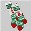 Angel and Toy Soldier Christmas Stocking