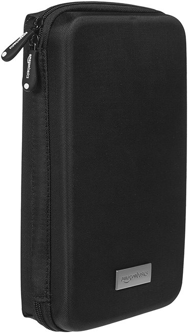 Black Amazon Basics Universal Travel Case for Small Electronics and Accessories