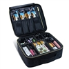 Travel makeup professional cosmetic case(Black-M)