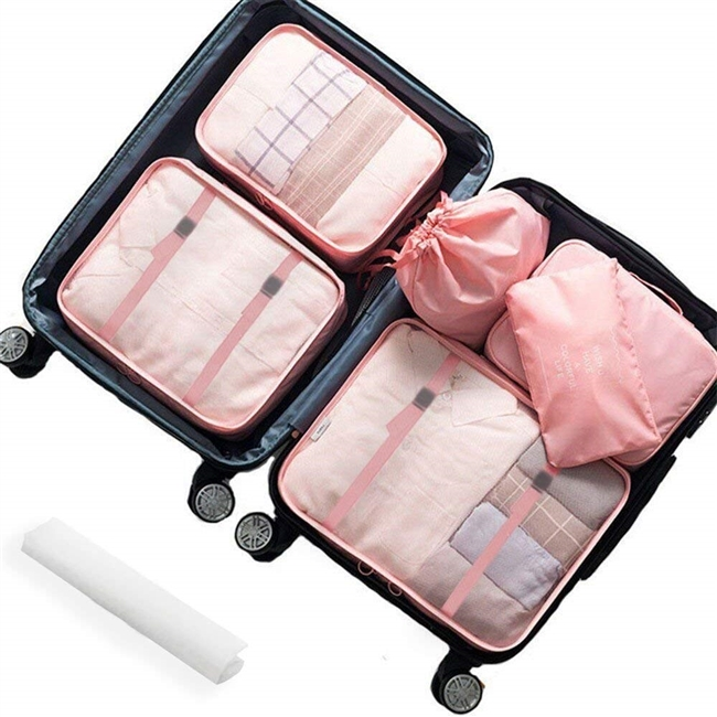 Lonew 7Pcs Packing Cubes, Travel Luggage Packing Organizers - Multi-functional Clothing Sorting Packages