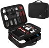 Matein Double  Layer Electronics Travel Organizer, Waterproof  Accessories Case Portable  Cable Storage Bag for Cord, Charger, Flash Drive, Phone, Ipad Mini, SD Card etc.