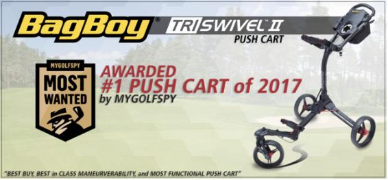 Bag Boy Tri-Swivel II Golf Push Cart