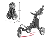 CaddyLite One-Click Swivel V8 - Golf Push Cart